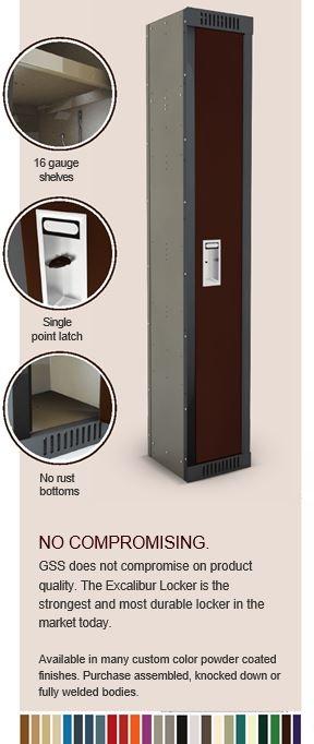 Excalibur individual locker
