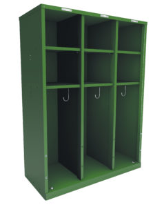cubbie locker 3 space green